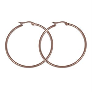 Picture of Rose Gold Round Hoop Earrings
